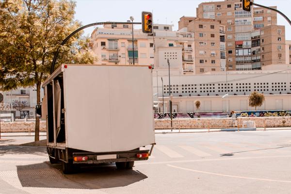 tarjeta de transporte de camiones