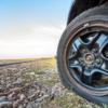 rueda pinchada en una furgoneta